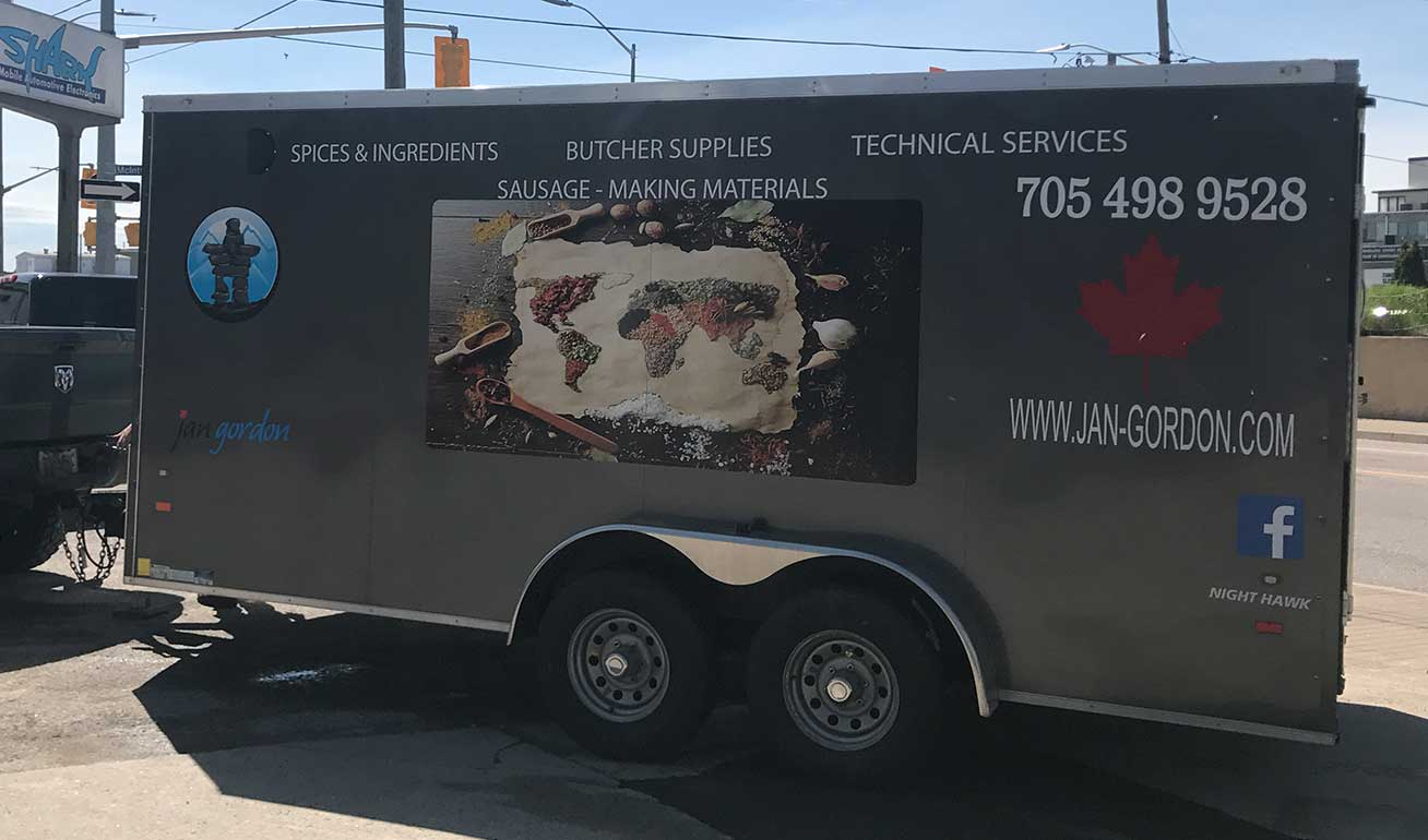 Advertising Wraps for Trailers by Shark in North Bay, ON